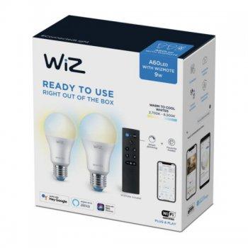 Wiz - StarterKit (2 White Bulb + Remote) - หลอดไฟอัจฉริยะ แพค 2 หลอดไฟสีขาว-เหลืองกับรีโมท