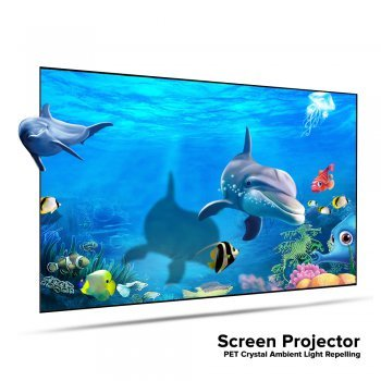 Screen Projector PET Crystal Ambient Light Repelling จอรับภาพโปรเจคเตอร์