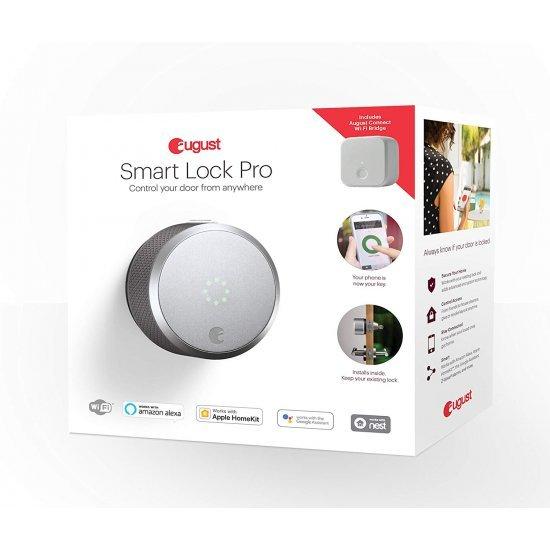 August Smart Lock Pro+Connect 3rd gen ชุดกลอนล็อคประตู+ล็อค/ปลดล็อค