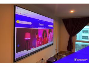 วิธีติดตั้ง Screen Projector PET Crystal Ambient Light Repelling
