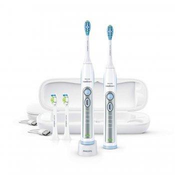 Philips Sonicare Flexcare - แปรงสีฟันไฟฟ้า แพ็ค 2 ชิ้น พร้อมเคสชาร์จ