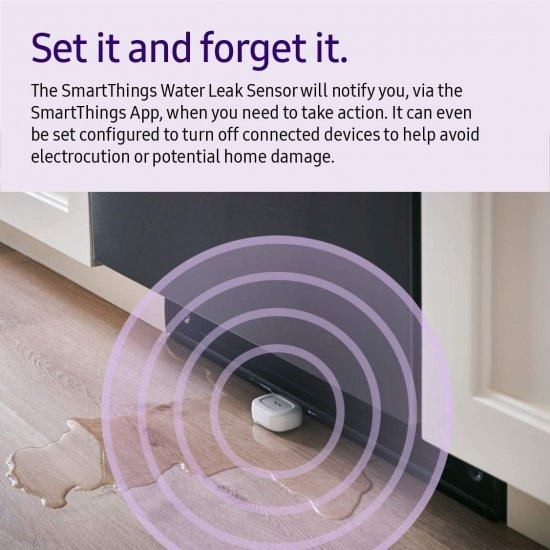 Samsung SmartThings Water Leak Sensor (3rd Generation)เซ็นเซอร์แจ้งเตือนน้ำรั่ว